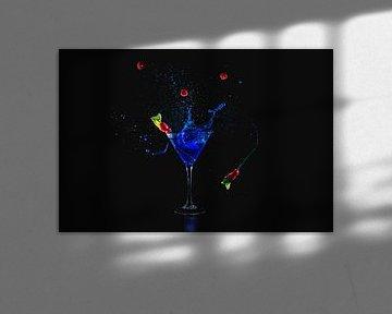 Cocktail bleu sur Corrine Ponsen