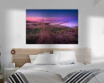 Steiger Øster Hurup strand (Denemarken) tijdens zonsondergang sur Bart Sallé