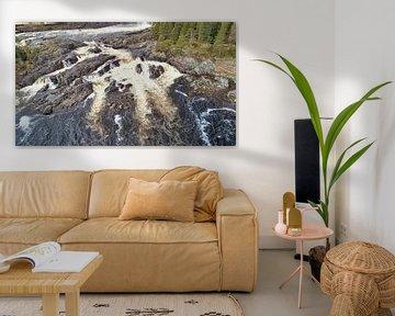 Waterval Namforsens van Fields Sweden