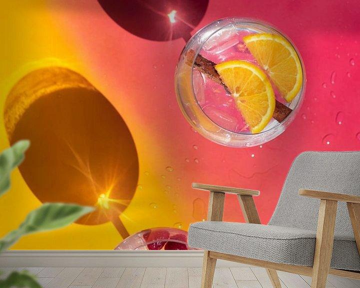 Sfeerimpressie behang: Vrolijke gin tonics van Amber de Jongh