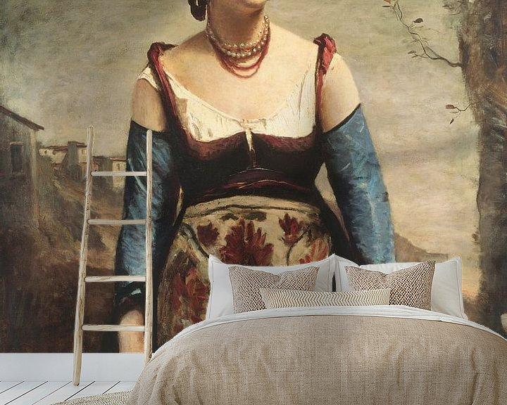 Beispiel fototapete: Agostina, Jean-Baptiste-Camille Corot