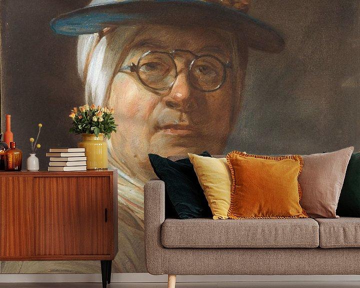 Beispiel fototapete: Selbstporträt mit Brille, Jean Siméon Chardin