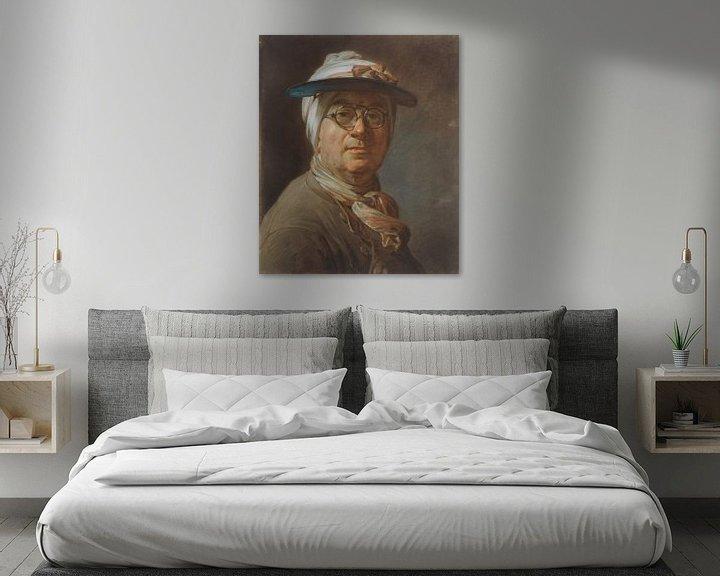 Beispiel: Selbstporträt mit Brille, Jean Siméon Chardin