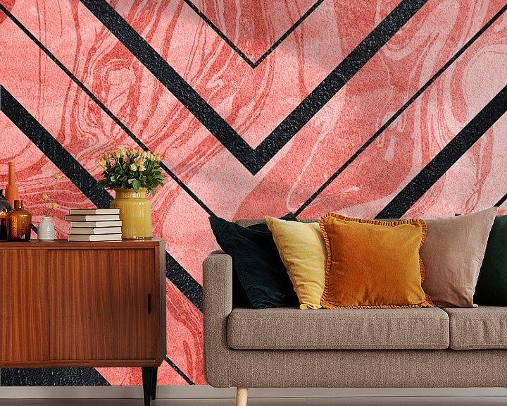 Sfeerimpressie behang: Geometric XXXXI van Art Design Works