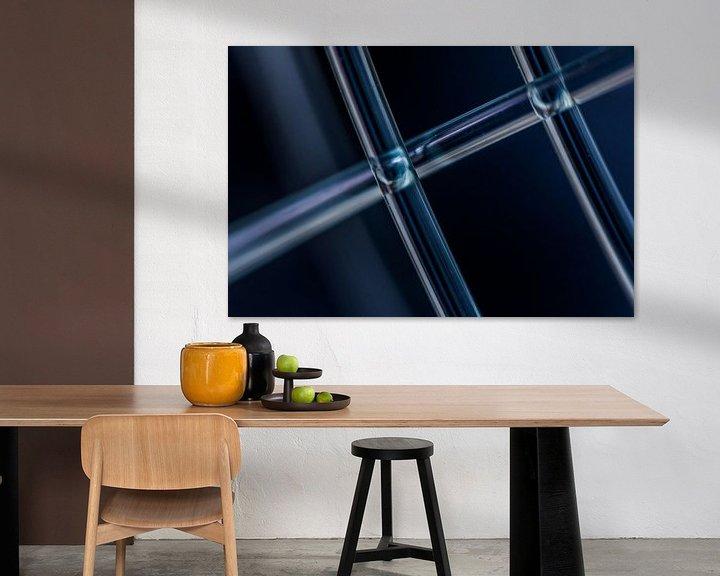 Sfeerimpressie: Blauw transparant van Leo Luijten