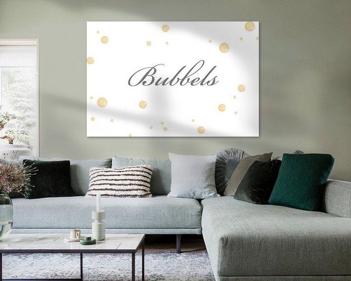 Sfeerimpressie: Bubbels op de muur van Ellen Voorn