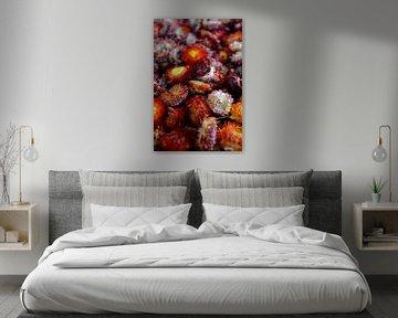 Bloemenarrangement in herfstkleuren von Ima Rhebok