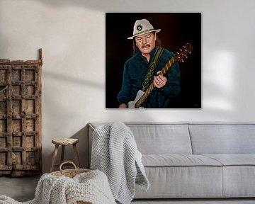 Carlos Santana Schilderij von Paul Meijering