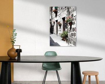 Toskanische Dorfhausfassade Italien von Hendrik-Jan Kornelis