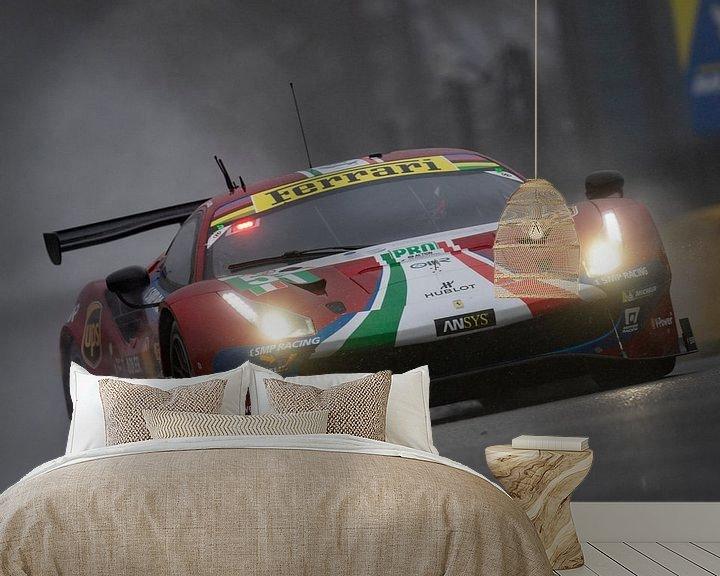 Beispiel fototapete: Total 6h of Spa, AF Corse Ferrari 488 EVO von Rick Kiewiet