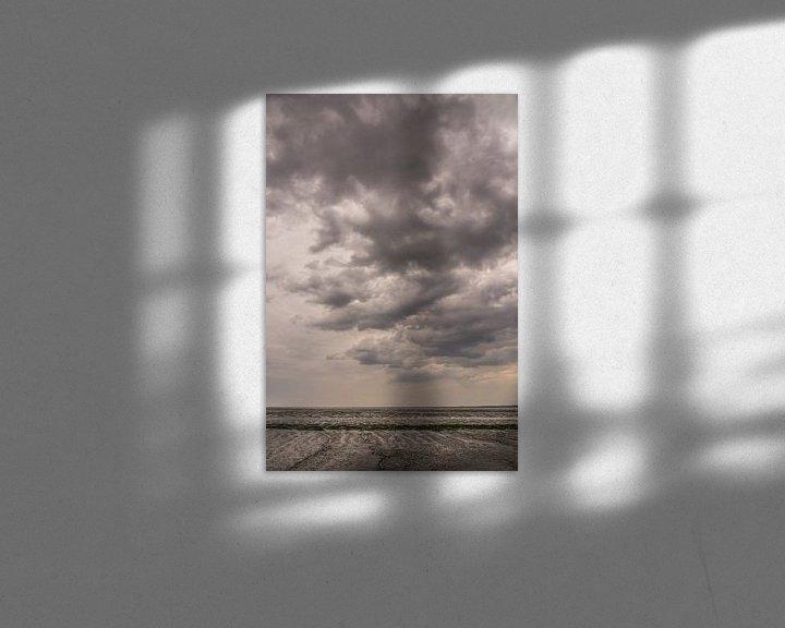 Beispiel: Dunkle Wolken über dem Wattenmeer. von Adri Vollenhouw