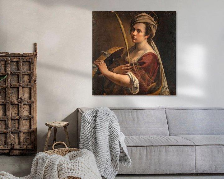 Beispiel: Selbstbildnis als Heilige Katharina von Alexandria, Artemisia Gentileschi