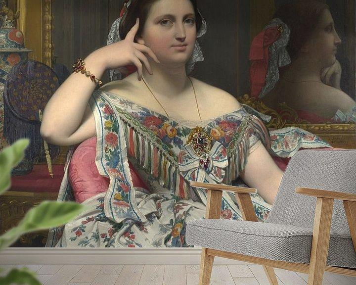 Beispiel fototapete: Madame Moitessier, Jean-Auguste-Dominique Ingres