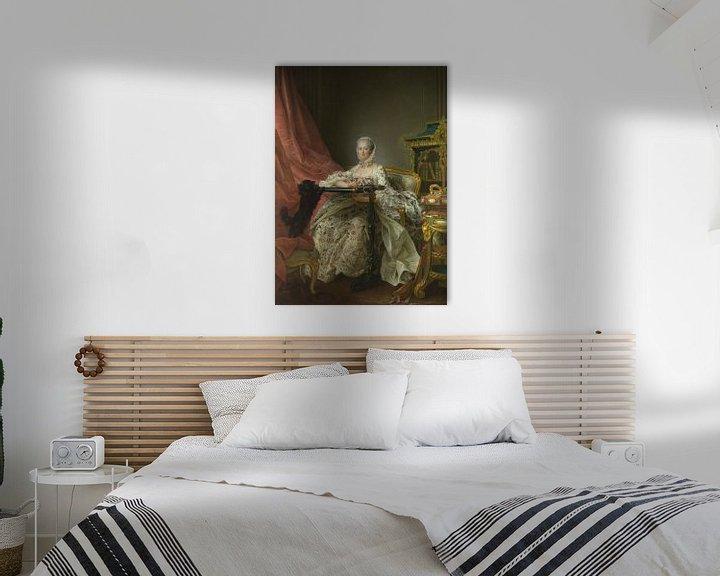Beispiel: Porträt der Madame de Pompadour, François-Hubert Drouais