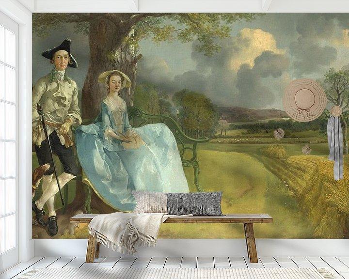 Beispiel fototapete: Mr. und Mrs. Andrews, Thomas Gainsborough