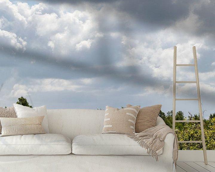 Beispiel fototapete: Wolkenlandschaft von Anjo ten Kate