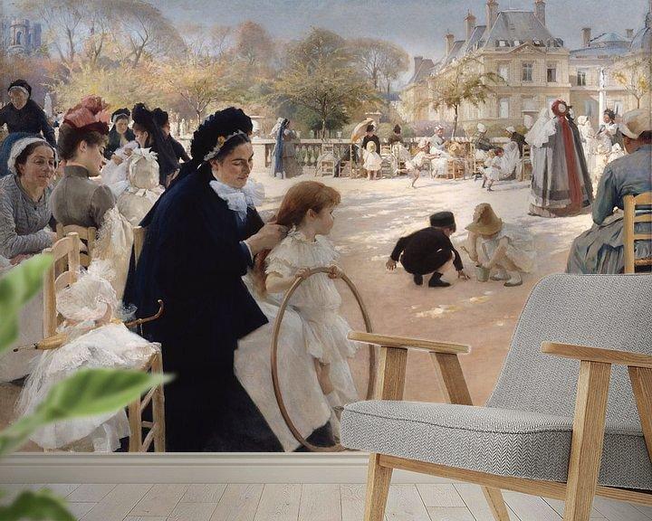 Beispiel fototapete: Luxenburggarten in Paris, Albert Edelfelt