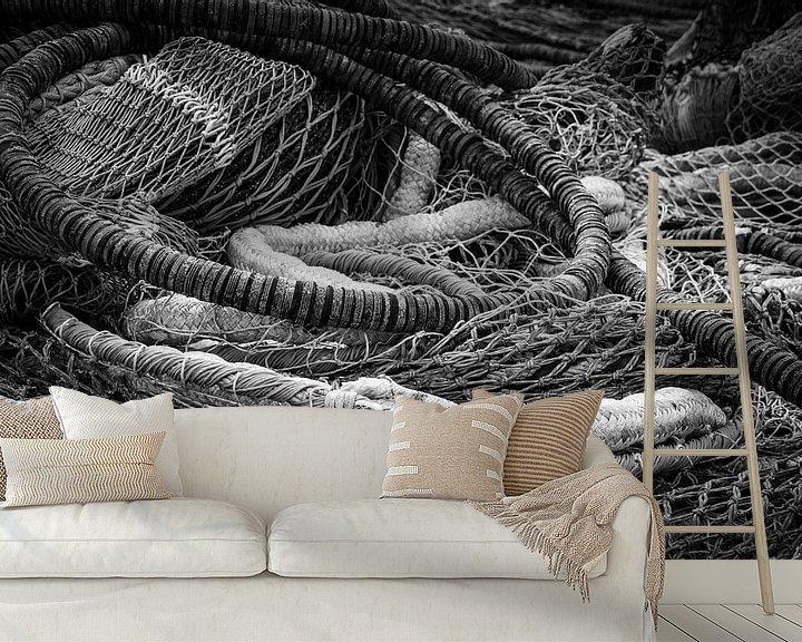Beispiel fototapete: Een berg visnetten of kunst? von BSO Fotografie