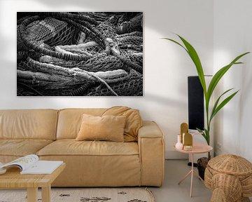 Een berg visnetten of kunst? von BSO Fotografie