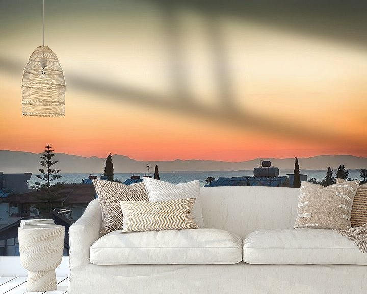 Sfeerimpressie behang: Zonsondergang in Turkije van Mark Bolijn