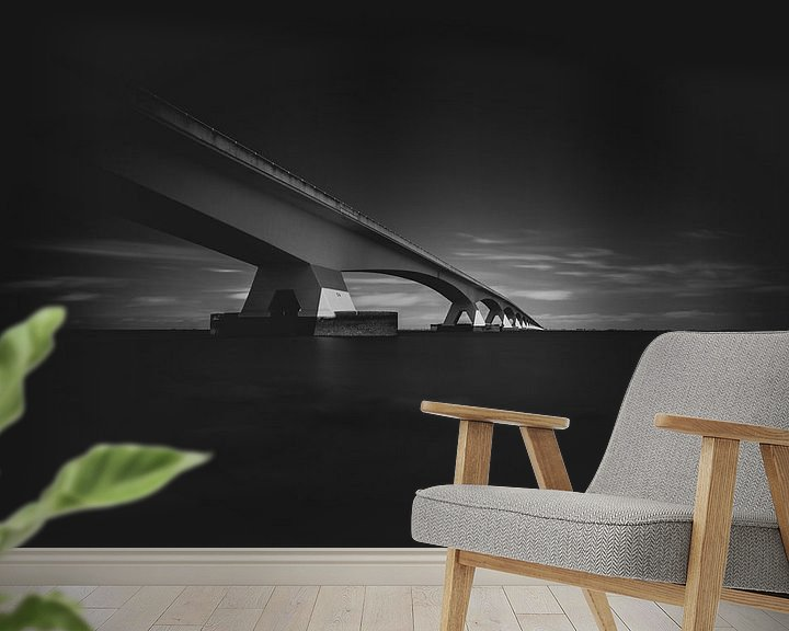 Sfeerimpressie behang: Zeelandbrug van Theo Klos