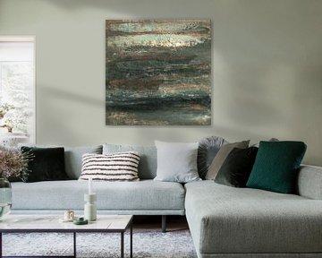 Sober abstract 04 van Willie Roosenbrand Art