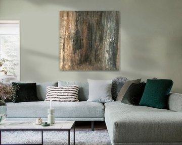 Sober abstract 01 van Willie Roosenbrand Art