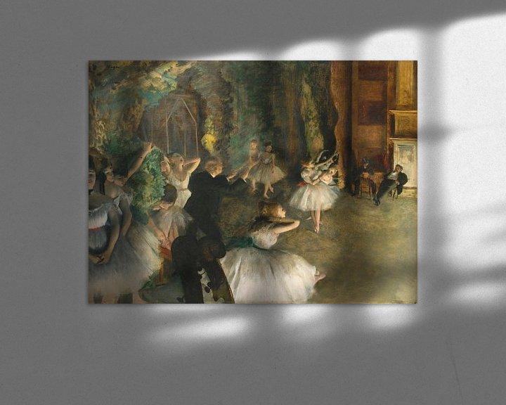 Beispiel: Die Probe des Balletts auf der Bühne, Edgar Degas