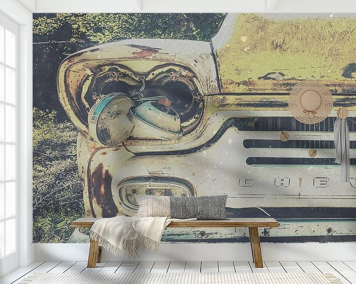 Sfeerimpressie behang: Vintage Chevrolet van Wolbert Erich