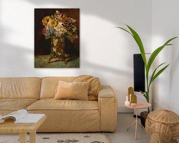 Vase mit Blumen, Adolphe Monticelli