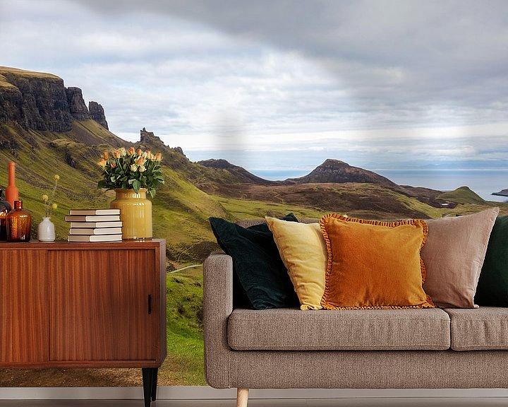Impression: Vue imprenable en Ecosse de Quiraing sur l'île de Skye sur Remco Bosshard