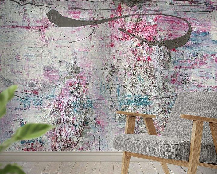 Sfeerimpressie behang: Pastel Poetry 01 van Willie Roosenbrand Art