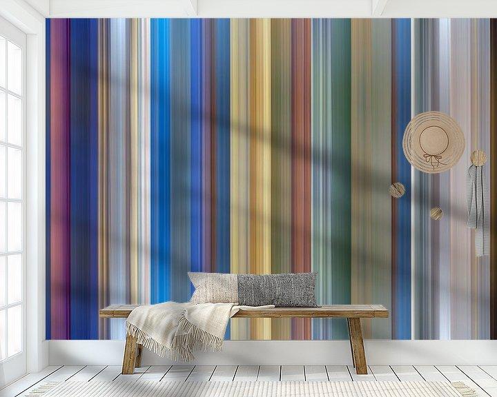 Sfeerimpressie behang: Kleurenpalet van de stad Groningen in Nederland van Reina Nederland in kleur