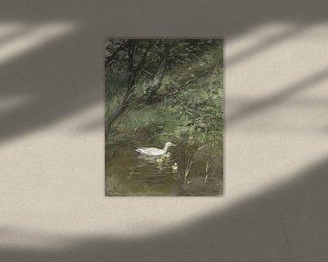 Eendjes in het water, Willem Maris