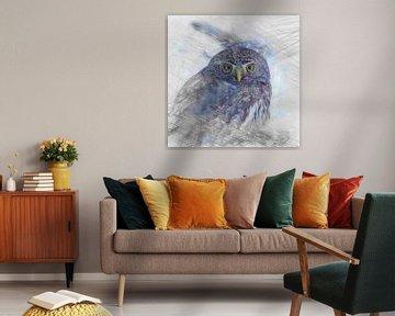Artistic Animal Owl von Angelika Möthrath
