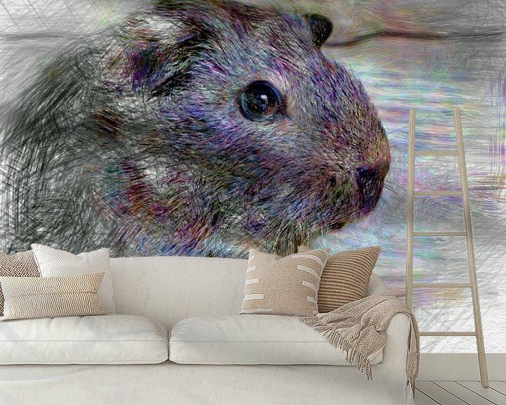 Beispiel fototapete: Artistic Animal Guinea Pig von Angelika Möthrath