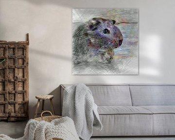 Artistic Animal Guinea Pig sur Angelika Möthrath