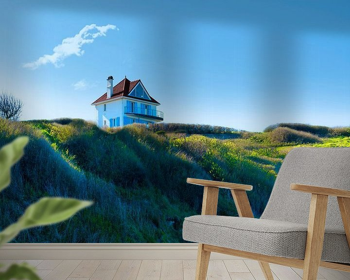 Sfeerimpressie behang: 0499 House on the hill van Adrien Hendrickx