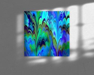 Fractal Marbled blue sur Angelika Möthrath
