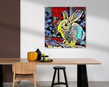 Color Kick Animal -Bunny von Angelika Möthrath