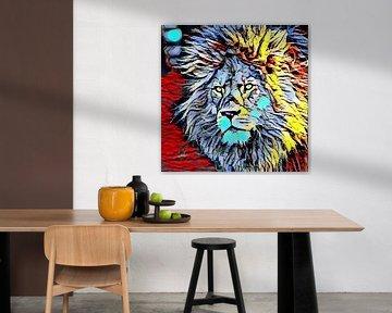 Color Kick Animal - Lion King von Angelika Möthrath