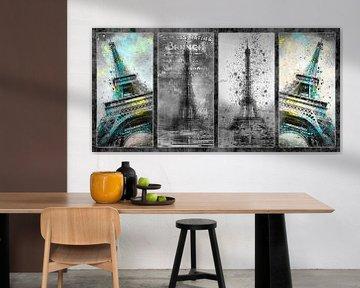 Eiffelturm Collage von Melanie Viola