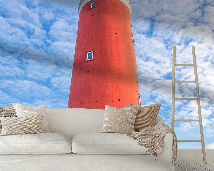 Sfeerimpressie behang: Vuurtoren van Texel. van Justin Sinner Pictures ( Fotograaf op Texel)