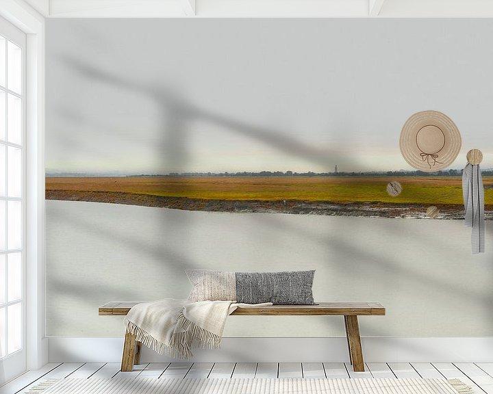 Sfeerimpressie behang: 0567 Michel's shore van Adrien Hendrickx