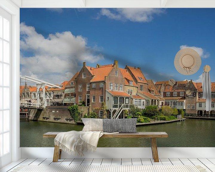 Beispiel fototapete: Häuser in Enkhuizen von Martijn Tilroe
