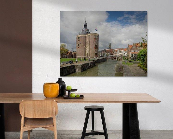 Beispiel: Die Drommedaris in Enkhuizen von Martijn Tilroe