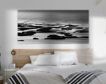 Waddenkust Stilleven in zwart wit von Waterpieper Fotografie