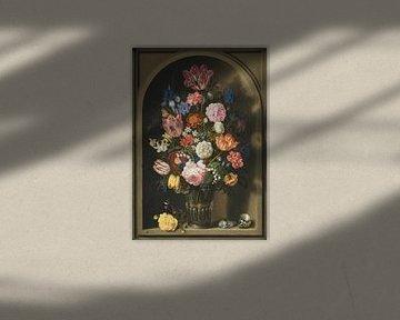 Blumenstrauß in einer Steinnische, Ambrosius Bosschaert