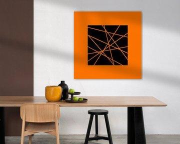 Abstrakt in Orange von Marion Tenbergen