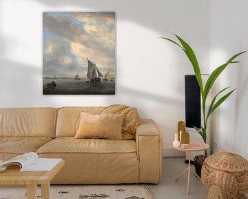 Seestück mit Segelschiffen, Salomon van Ruysdael